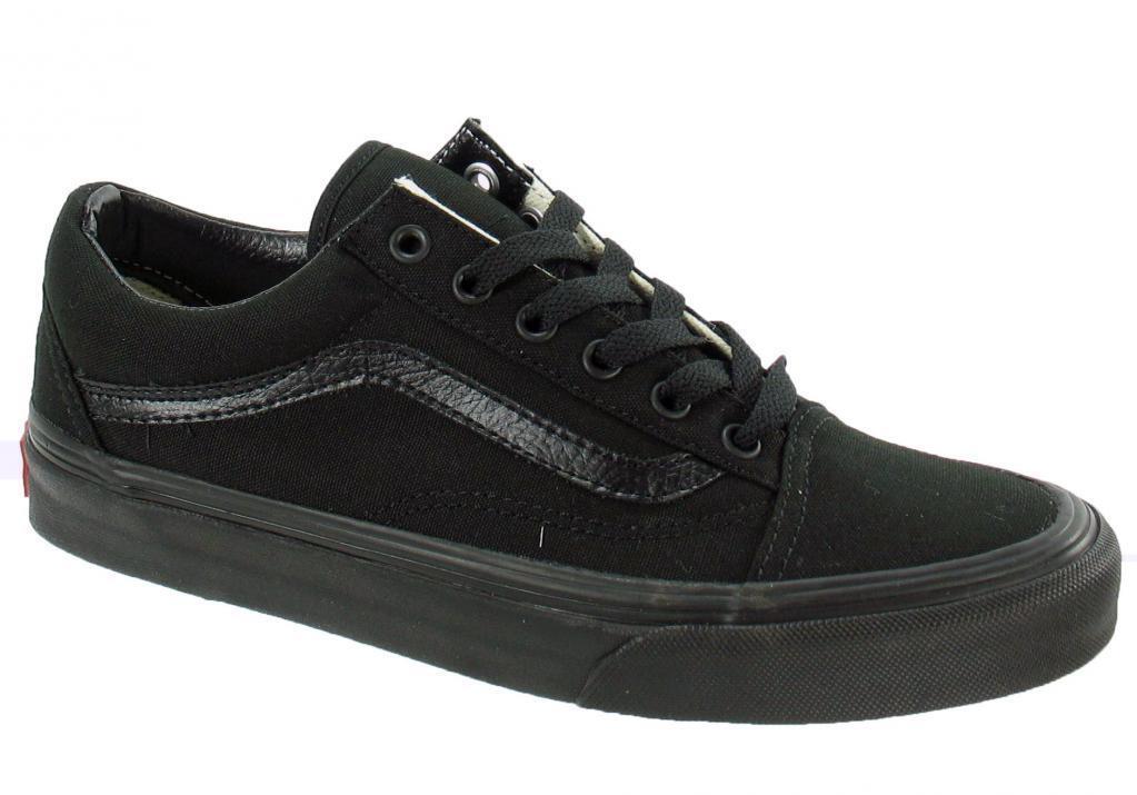 Vans Classic Old Skool Canvas noir noir hommes femmes Chaussures All Sizes