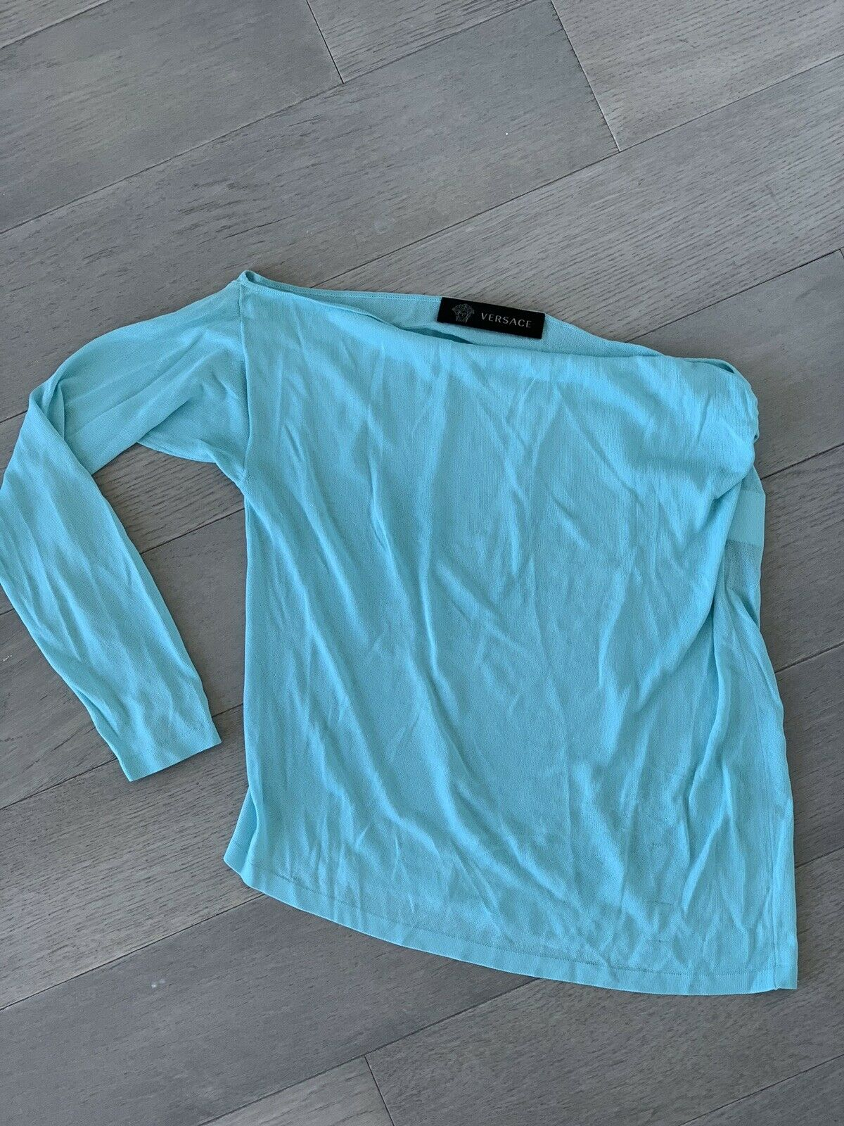 Versace Blau Off Shoulder Top 38