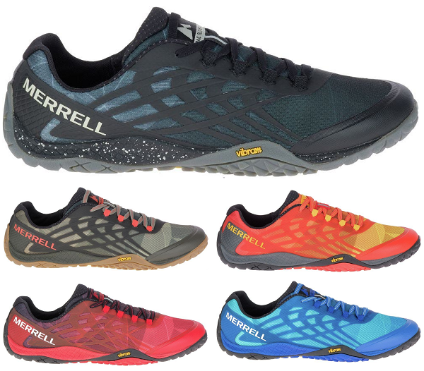 MERRELL Trail Glove 4 Barefoot Trail Running Trainers Athletic schuhe Mens New