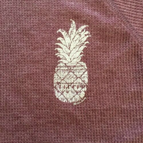 $34 NEW BILLABONG AUSTRALIA HERITAGE PINK THERMAL PINEAPPLE L//S SHIRT SZ SMALL