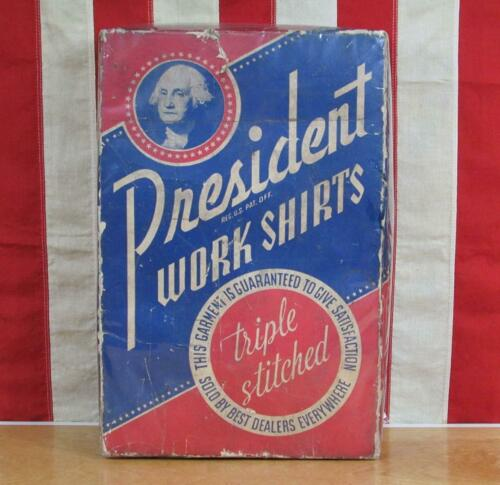 Vintage 1910s President Work Shirts Orig.Box Only