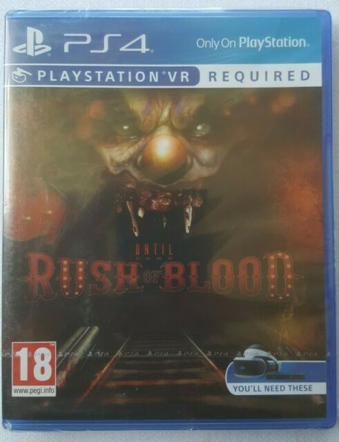 Until Dawn Rush of Blood VR Game for Sony PlayStation 4 PS4 Pegi 18 (PSVR Req'd)