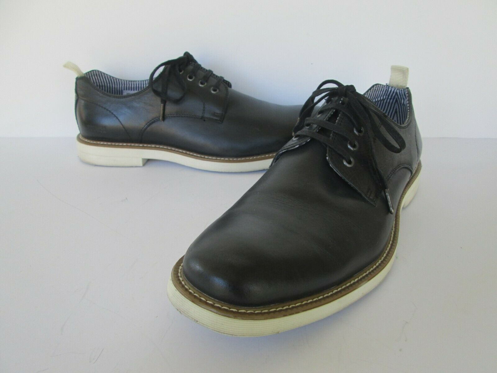 Kenneth Cole Reaction Mens Well Red Black Leather Oxfords Shoes 10 M