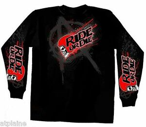 T-Shirt-ML-AGGRESSION-RIDE-Taille-L-Style-BIKER-HARLEY