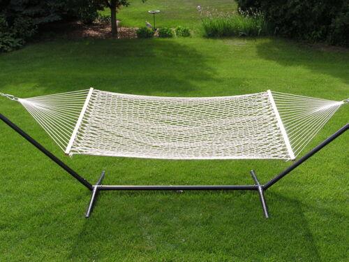Extra Large 2P White Cotton Rope Hammock Set  15 foot