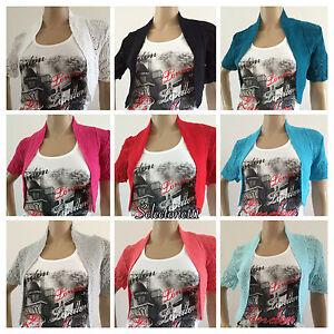 New-Ladies-Crochet-Cardigan-Bolero-Shrug-Knitted-Womens-Tops-For-All-UK-Sizes