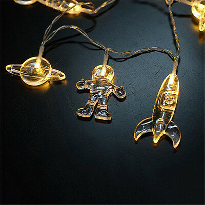2M 20 LED Outer Space Fairy String Light Christmas Party Home Kids Bedroom Decor