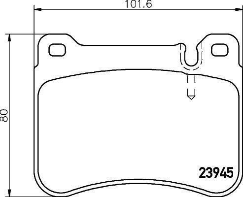 Hella Pagid Front Brake Pads fits Mercedes C-CLASS W203 C 240 C 320 C 220 CDI