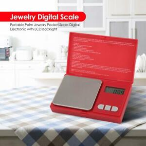 Portable Palm Jewelry Pocket Scale Digital Electronic with LCD Backlight