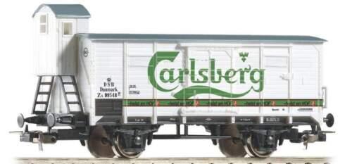 PIKO HO 58934 G02 Boxcar w//Brake Cab Carlsberg Beer DSB III