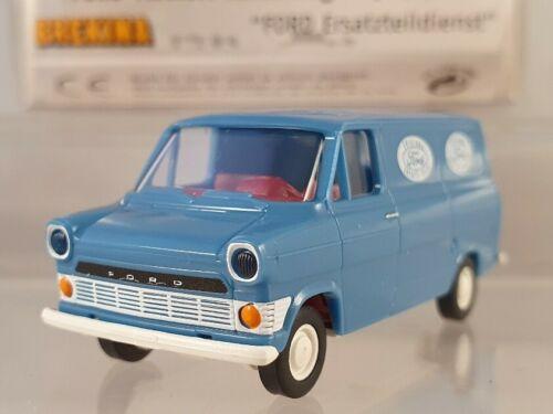 """Brekina Ford Transit Kastenwagen /""""Ford Ersatzteildienst/"""" 1:87 H0 34058"""