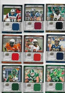 CFL Football 2015 Upper Deck  Game Used Jersey LOT of NINE (9) cards