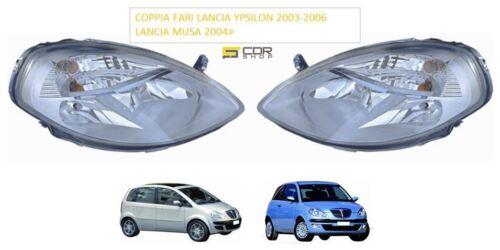 COPPIA FARI ANTERIORI H7//H3 MUSA 2004/> LANCIA YPSILON DAL 2003 AL 2006