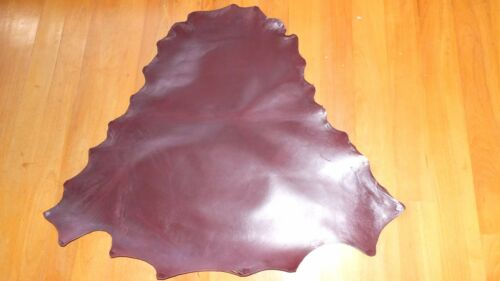 BRANDY BROWN Kangaroo leather VEG TANNED 800 mm x 800 mm lace braid chap bag