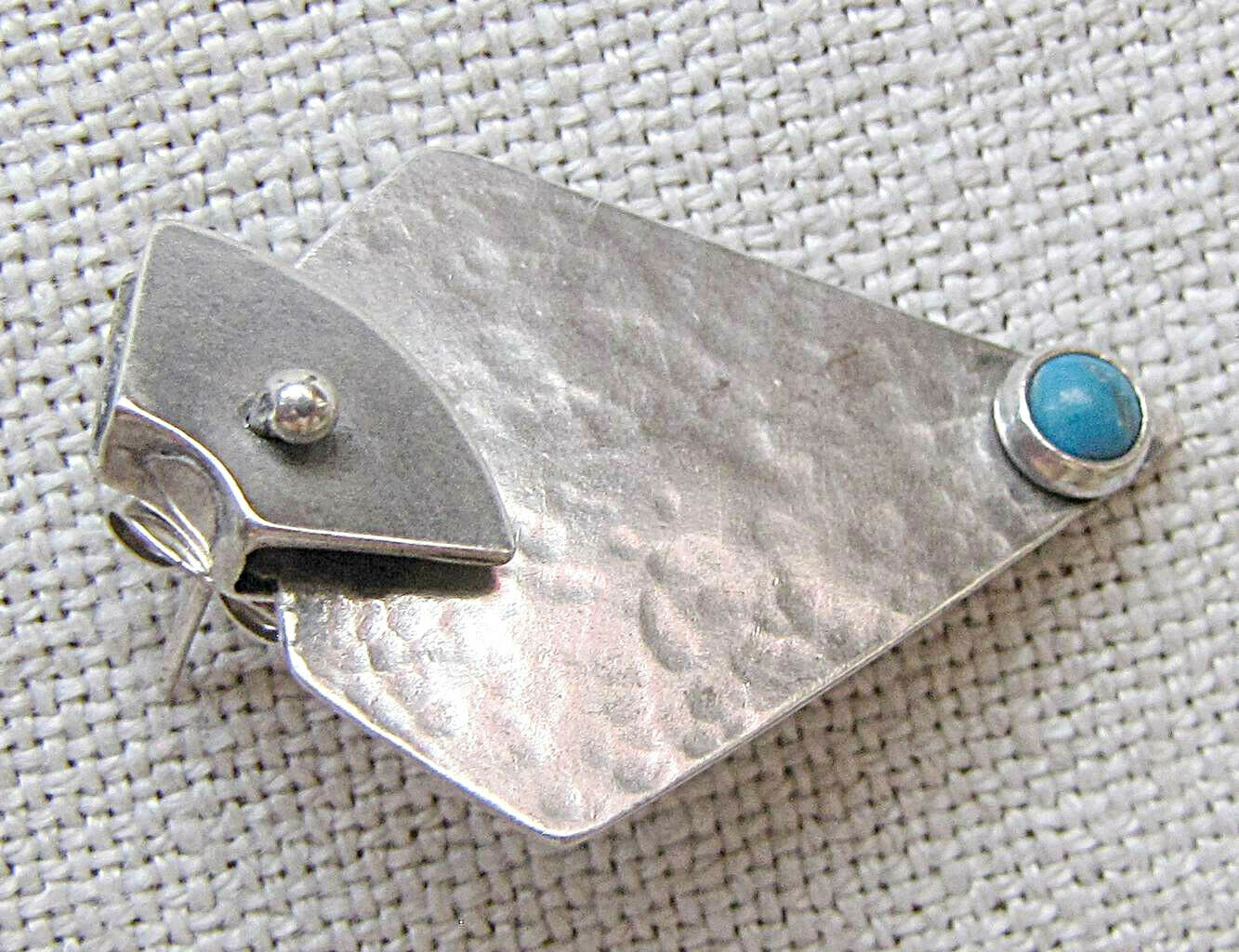 """2 Vintage Jewelry items: silver earrings sign. """"D… - image 2"""