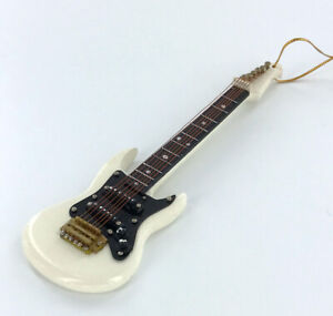 Realistic-Miniature-White-Electric-Guitar-Christmas-Tree-Ornament-Music-Gift