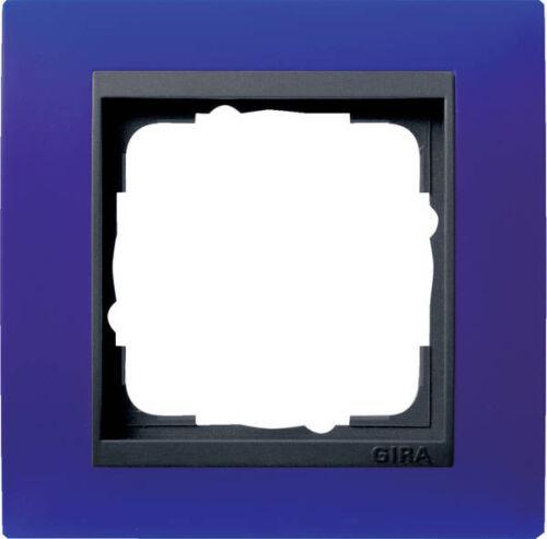 anthrazit 021189 Gira Rahmen 1fach Event opak blau