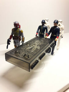Horizontal-Han-Carbonite-Display-Stand-stand-only-Star-Wars-Kenner-POTF