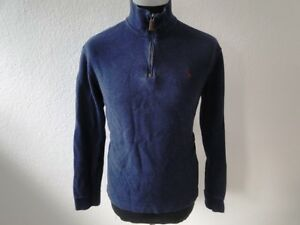 M Lauren unita tinta Pullover lunga Ralph blu gr cotone uomo manica B0E0Awvx