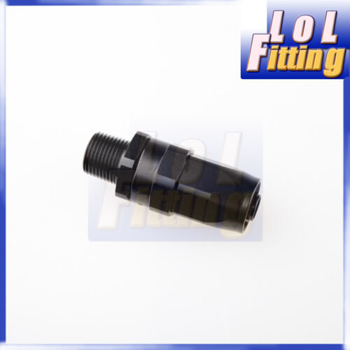 """8 AN AN 8-8 AN to 1//4/"""" NPT Straight Swivel Oil Gas Line Hose End Fitting Black"""