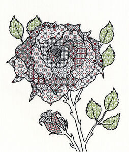 7db2c5d61457b Image is loading BOTHY-THREADS-BLACKWORK-FLOWERS-ROSE-COUNTED-CROSS-STITCH-