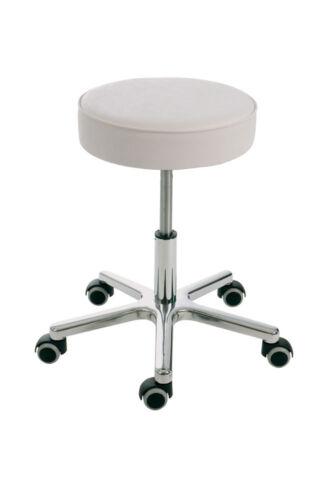 Modell 3868.1 mit Rollen Sitz Kunstleder Weiß Dreh-Hocker Bewegtes Sitzen