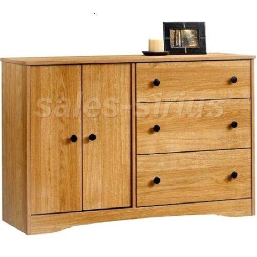 Wooden Bedroom Dresser 3 Drawer Organizer Oak Dressers Furniture Chest Storage