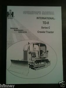 Details about International Harvester IH Dresser TD8 SeriesC Dozer Operator  Maintenance Manual