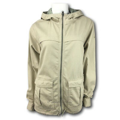 NEW $70 Columbia womens Riverfront military style cotton twill jacket Tan S