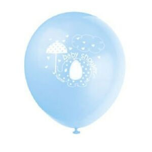 Blue-Baby-Boy-Shower-Party-SWEET-UMBRELLA-ELEPHANT-LATEX-BALLOONS