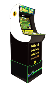 Arcade-Cabinet-Arcade1UP-Retro-Home-Video-Game-Golf-Riser-Light-Up-Marquee