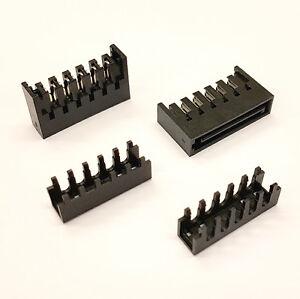 DIY STRAIGHT MALE SATA PC PSU POWER SUPPLY CONNECTOR + CAPS - PK OF 5