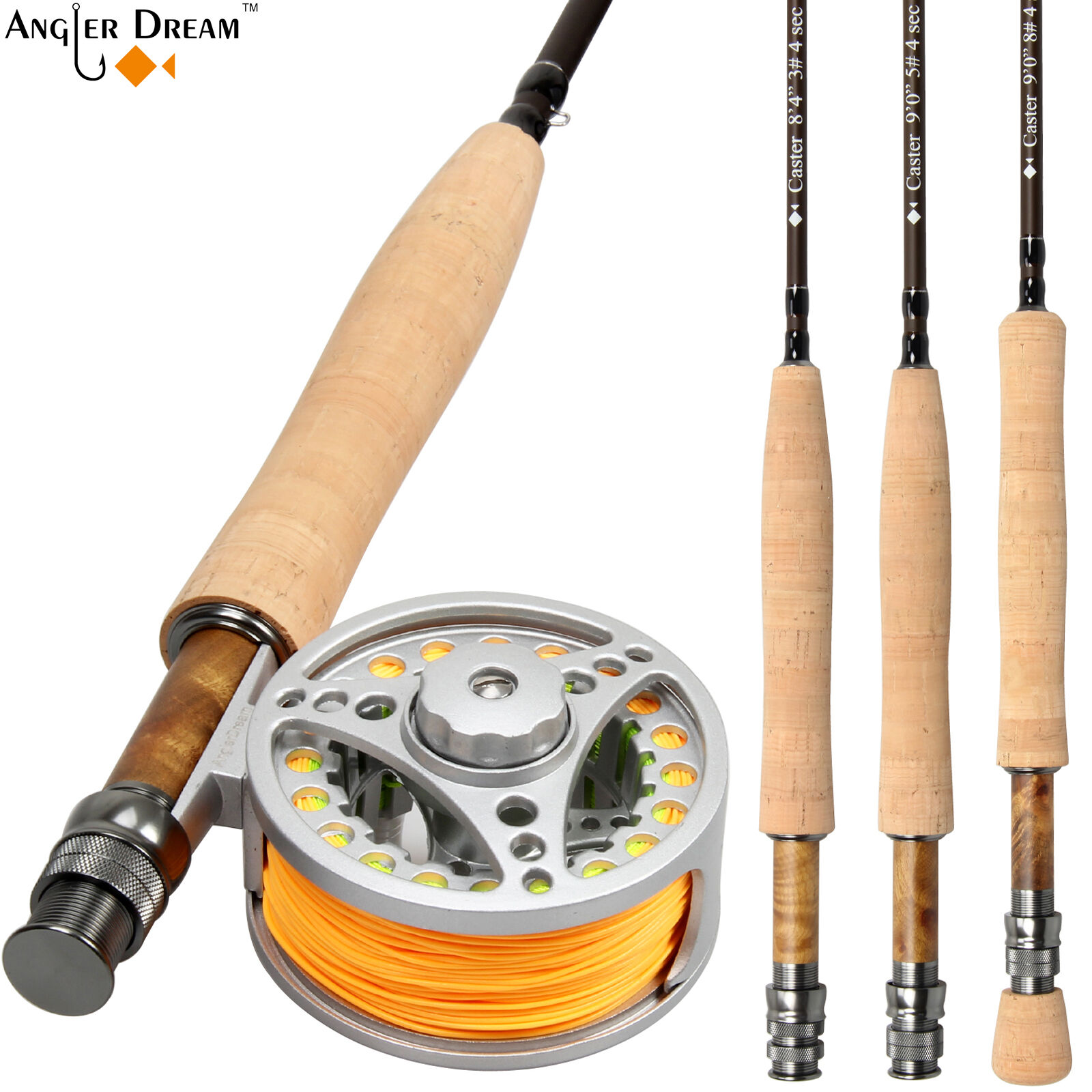 34 56 78WT Fly Rod Combo 9FT Carbon Fly Fishing Rod with Fly Reel  Line