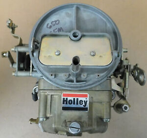 Holley-NOS-0-6425C-2BBL-Carb-650cfm-Manual-Choke-Sq-Bore-Flange-Dated-1997