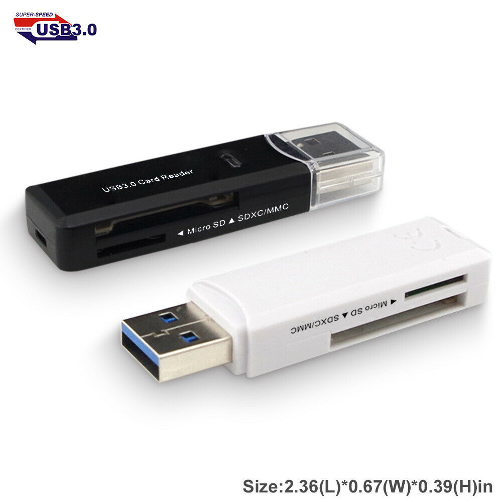 USB Adapter USB Card Reader For TF Micro SD Converter Memory Card Reader White
