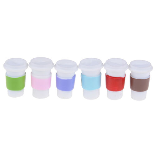 4Pcs 1:12 Dollhouse mini resin coffee cup milk tea cup for doll house decorat/_WK