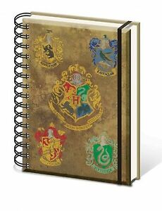 Official-Harry-Potter-Hogwarts-House-Crest-Notebook-Lined-A5-Film-Gift