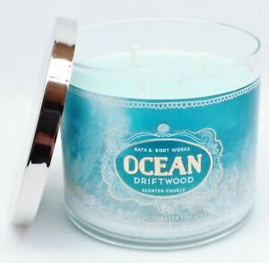 Bath /& Body Works Ocean Driftwood 3 Wick Candle ~ LOT OF 2 ~ Ships Free!!!