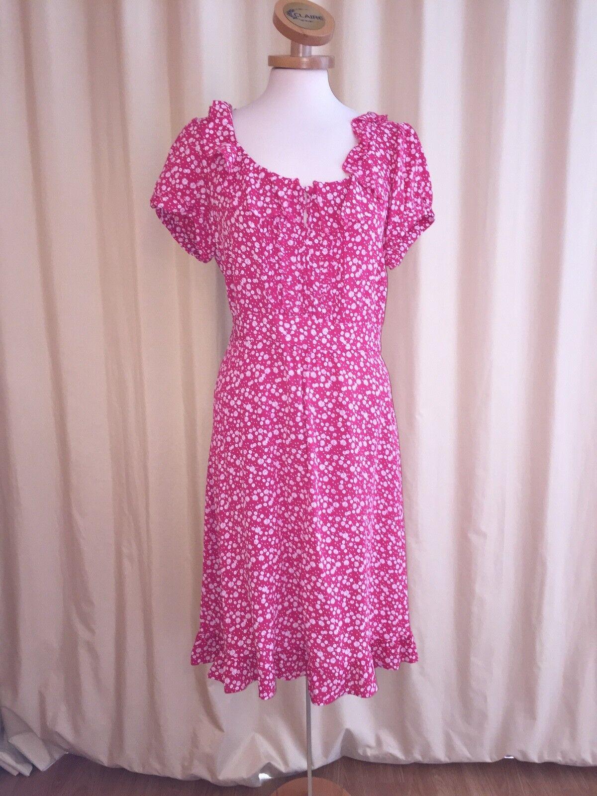 Rosa-weiß geblümtes Kleid von Monsoon Gr 42