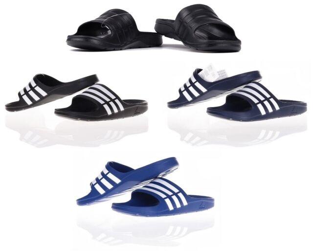 new arrival 8281f 9a003 Adidas Duramo Mens Slide Flip-Flops Sandals Pool-Beach Shoes