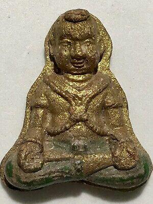 PHRA LEELA LP RARE OLD THAI BUDDHA AMULET PENDANT MAGIC ANCIENT IDOL#39