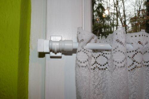 1 Paar Träger mit Klemmtechnik für 12mm Cafè Bistro Fensterstangen sehr stabil