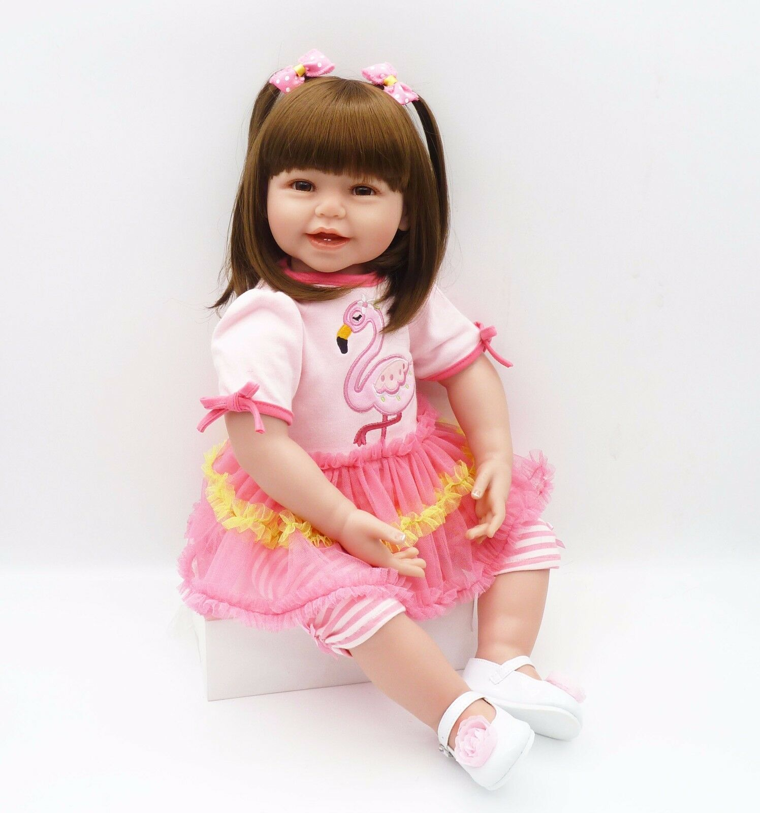 24  64CM Reborn Toddler Doll Girl Big Baby Realistic Handmade Lifelike Vinyl