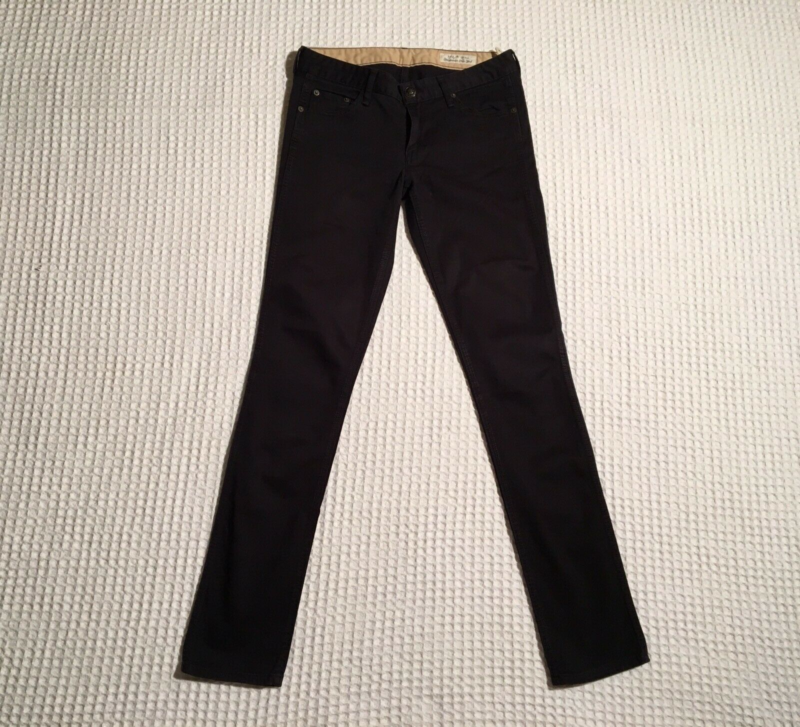 RAG & BONE Rag + Bone Slim Straight Leg Jeans Navy bluee Cotton Stretch Twill 28