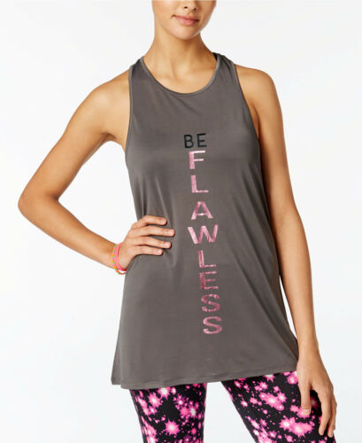 MACY/'S NWT MATERIAL GIRL FLAWLESS LARGE ACTIVE Graphic $25 HI LO TANK top