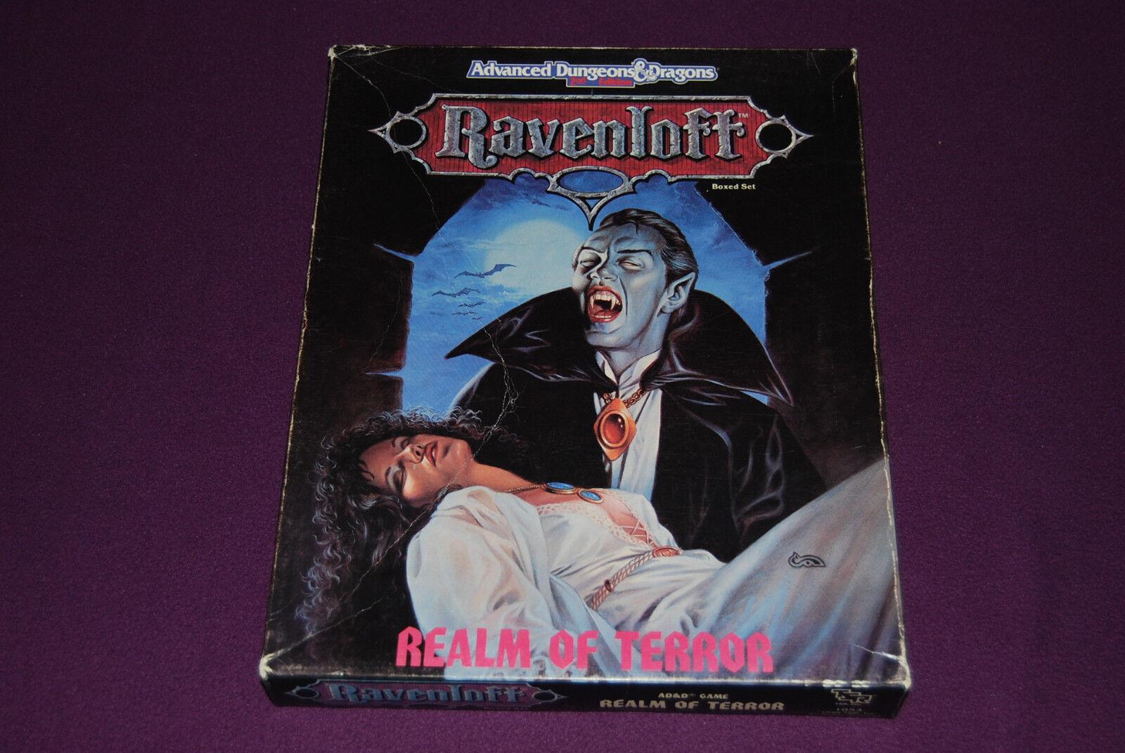 AD&D RPG  JDR Jeu de Role - Ravenloft   Realm of Terror Boxed Set  abordable