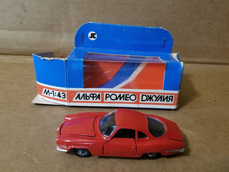 ALFA ROMEO Giulia SS JC Diecast Made in USSR rosso 1 43 Scale with original box