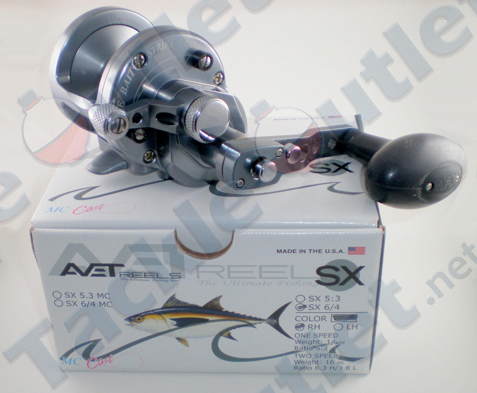 Avet SX6 4 Gunmetal Lever Drag Conventional Reel
