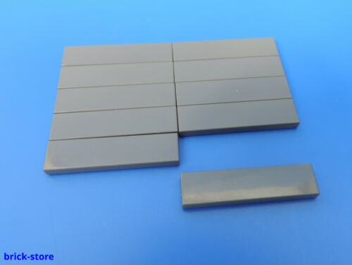 4211053  1x4 Fliese 1x4 dunkelgrau LEGO® Nr 10 Stück