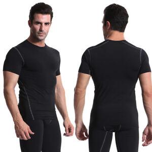 Mens Compression Vest Under Shirt Sleeveless Tank Tops Sports T-Shirts Gym Wear